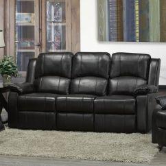Living Room Reclining Sofas Benchmark Furniture Brassex Alexander Dual Recliner Sofa Espresso Walmart Canada