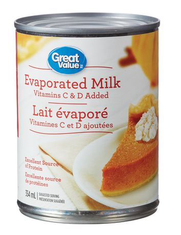 Great Value Vitamins C & D added Evaporated Milk   Walmart ...