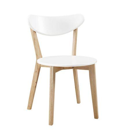 kitchen dining chairs table & walker edison retro modern wood walmart canada