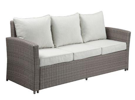 acme tahan 4pc patio set in fabric 2 tone gray wicker