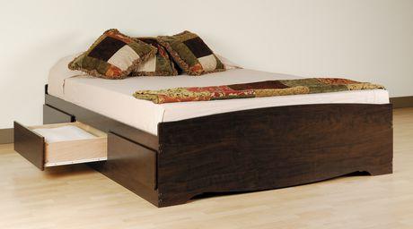 prepac base de lit plateforme avec 6 tiroirs de rangement double image 2 de
