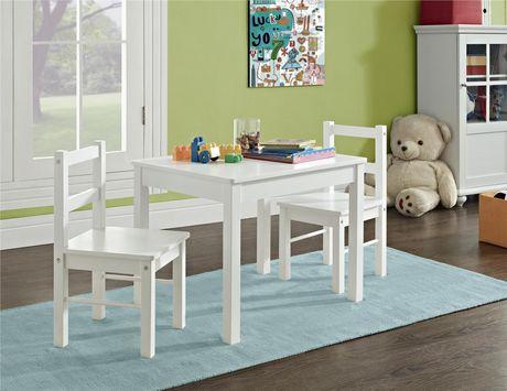 ensemble pour enfants 3 pieces incluant table et chaises en bois de dorel walmart canada