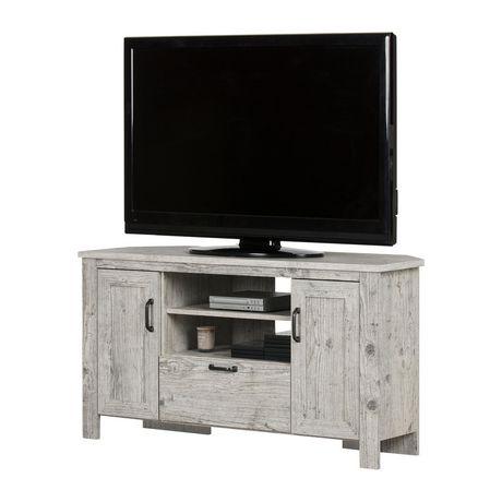 south shore lionel meuble tv en coin