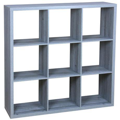 9 etagere de rangement en bois pour organisation en cube gris