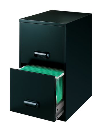 classeur 2 tiroirs noir