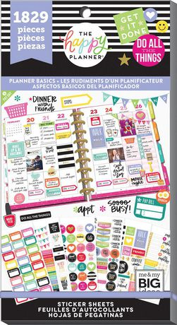 The Happy Planner® Value Pack Stickers - Planner Basics ...