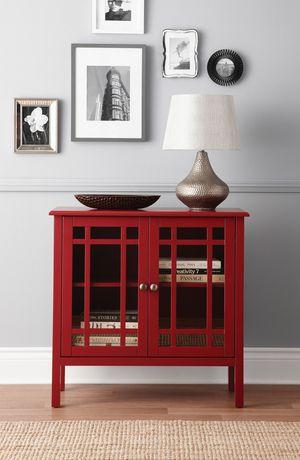 meuble de rangement hometrends avec porte de verre image 1 de 1