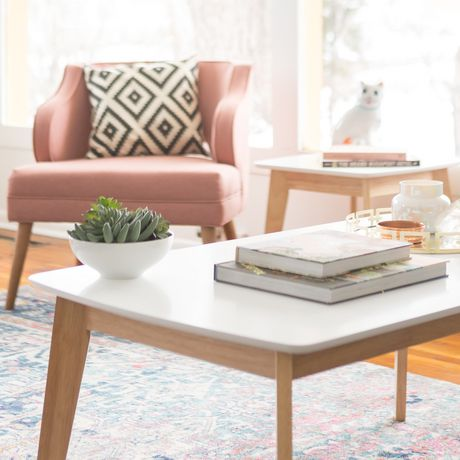 retro living room coffee table tiny house white and natural modern walmart canada