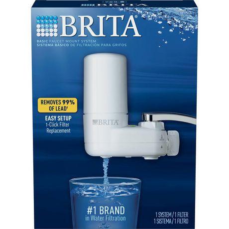brita basic on tap faucet water filter system white
