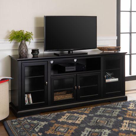 manor park console haute en bois pour televiseur et rangement medias de 177 8 cm 70 po plusieurs couleurs possible