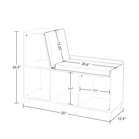 RiverRidge® Home Book Nook Collection Storage Bench with