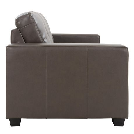 tufted leather sofa cheap sofas henderson nv corliving seat and backrest bonded walmart canada