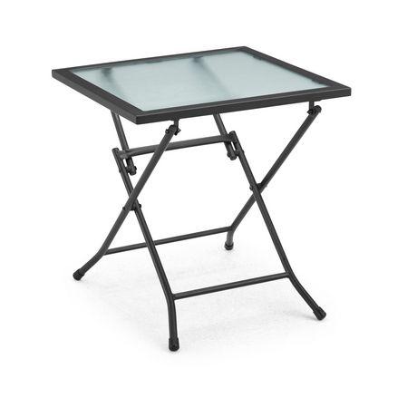 table d appoint pliante en verre de