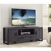"WE Furniture 60"" Grey Wood TV Stand Console | Walmart.ca"