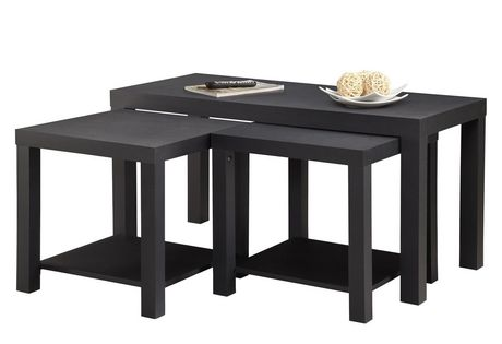 ensemble de table basse et tables d extremite hudson de dorel home