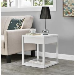 Small End Tables For Living Room Canada Grey And Blue Sets Parsons Table With Drawer Black Walmart