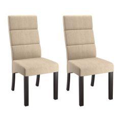 Upholstered Dining Chairs Canada Aeron Chair Hong Kong Corliving Antonio Set Of 2 Tall Back Cream