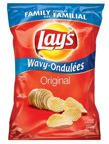 Lay39s Wavy Original Potato Chips Walmartca