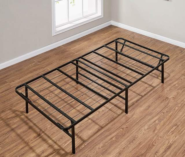Mainstays 14 High Profile Foldable Steel Bed Frame Powder Coated Steel Twin Walmart Com