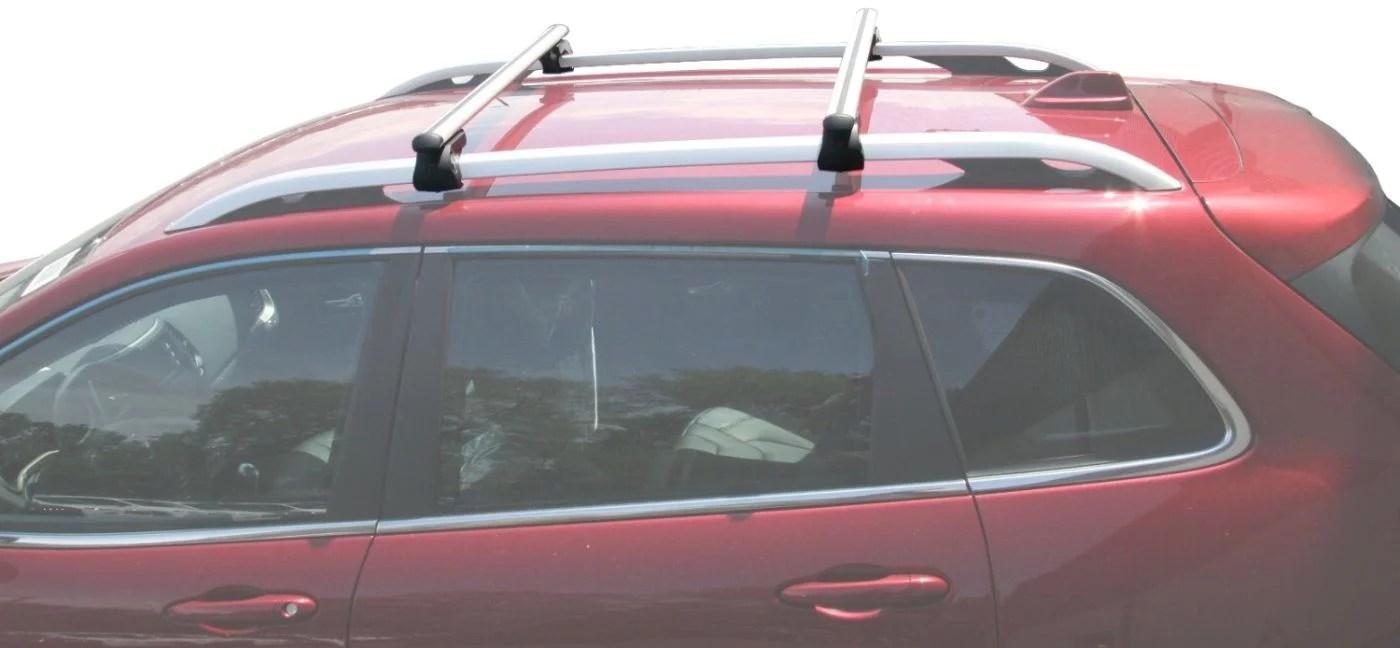 brightlines 2014 2021 jeep cherokee cross bar roof rack