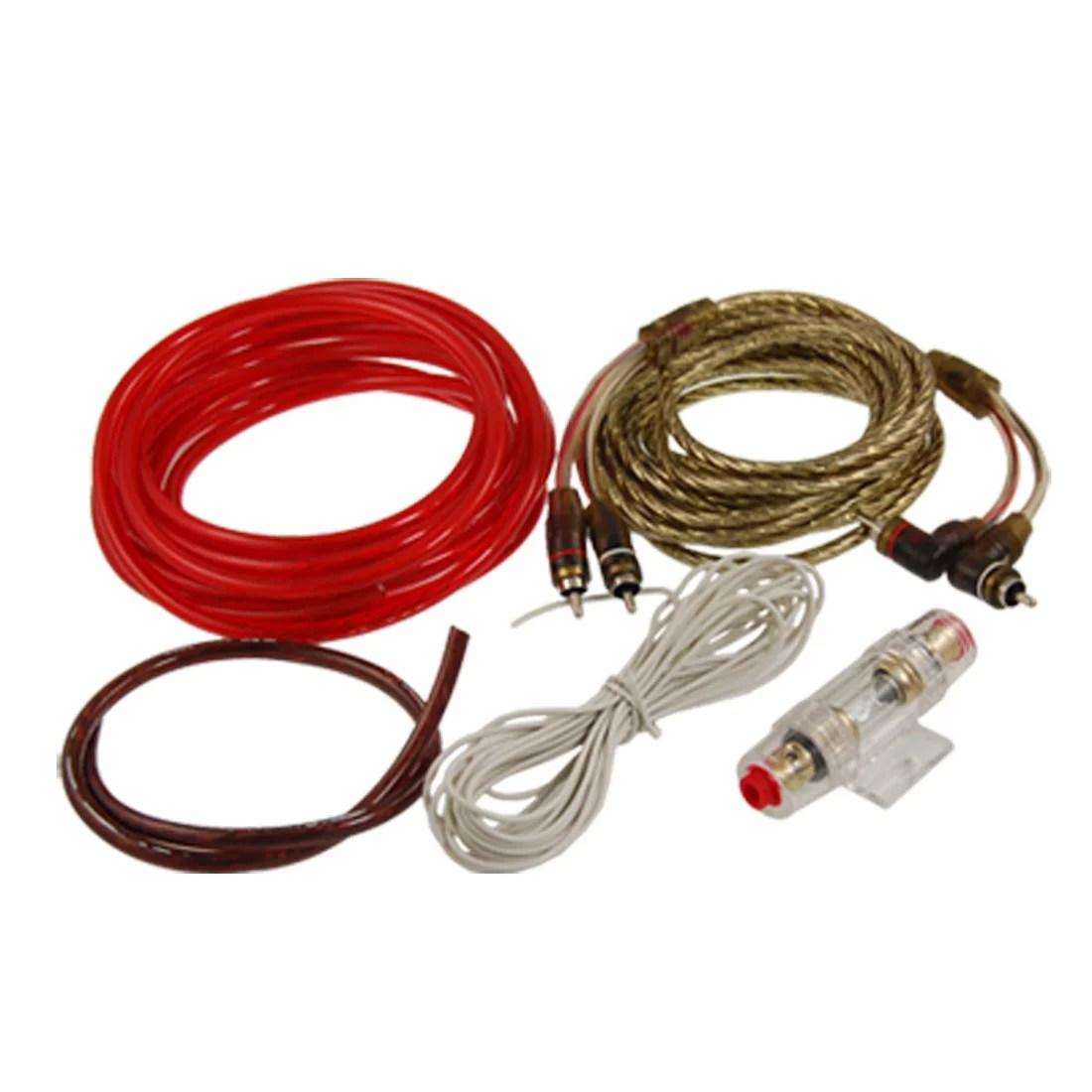 car audio 4 pcs cables fuse holder amplifier wiring kit walmart com audio amplifier kit car audio wiring kit walmart [ 1100 x 1100 Pixel ]