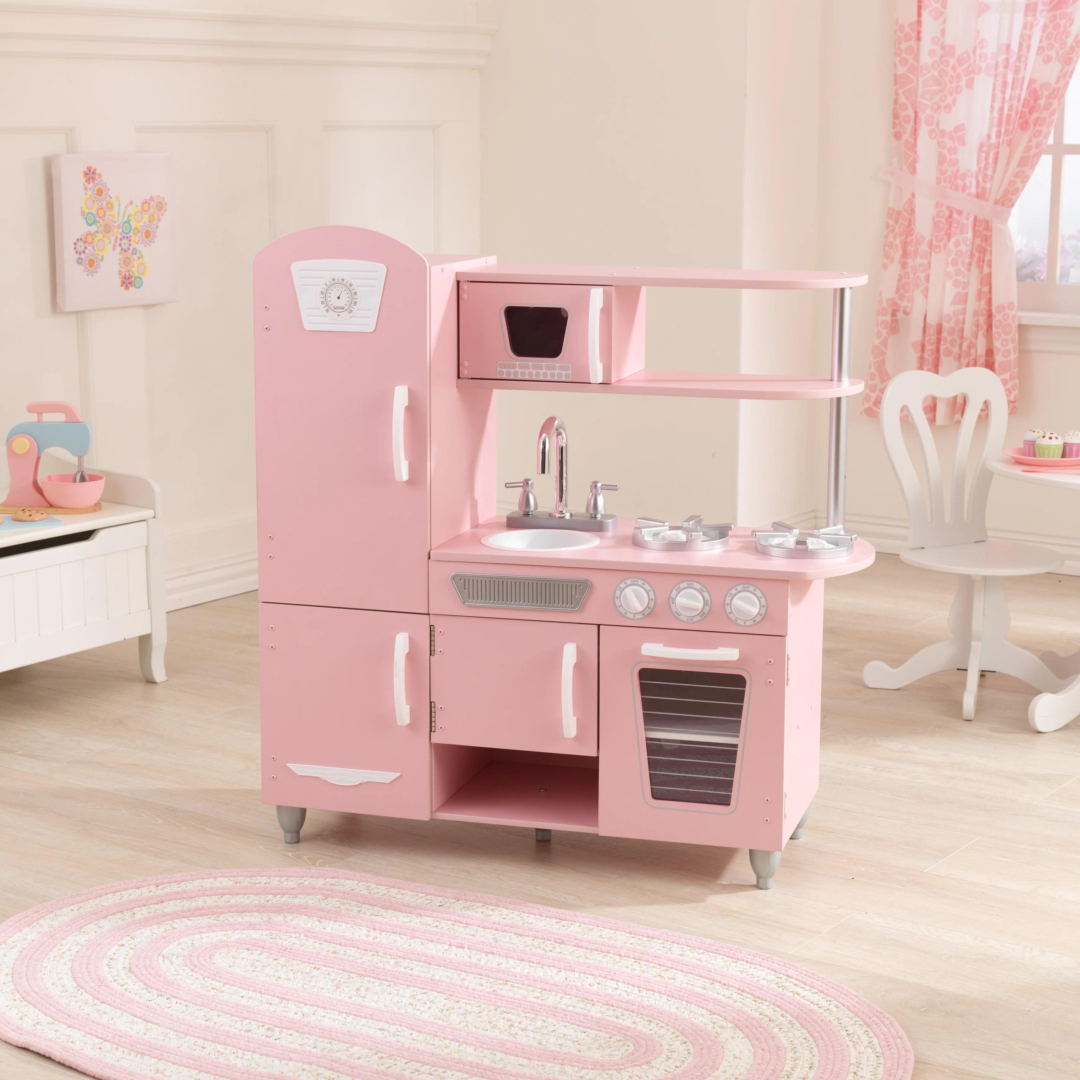 kid craft kitchen best brand for appliances kidkraft vintage play pink walmart com kidkraft厨房