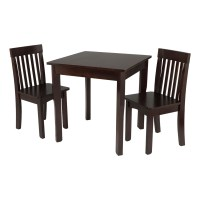 KidKraft Square Table and 2 Avalon Chairs Set, Espresso ...