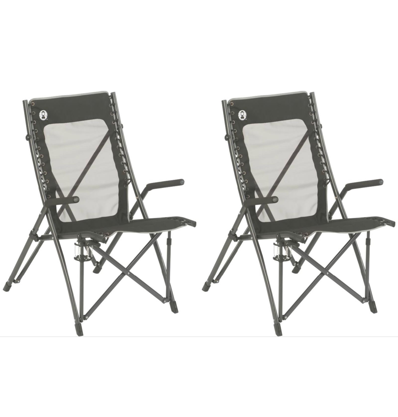 Coleman Comfortsmart Chair 2 Coleman Comfortsmart Suspension Camping Folding Chairs W Mesh