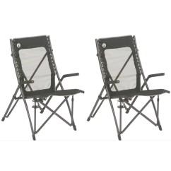 Coleman Folding Chairs Wingback Chair Ikea 2 Comfortsmart Suspension Camping W Mesh Back Bag Walmart Com