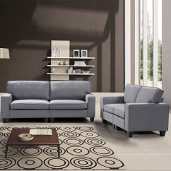 2 Piece Living Room Set Wall Units Photos Harper Bright Designs Upholstered Sofa And Loveseat Multiple Colors Walmart Com