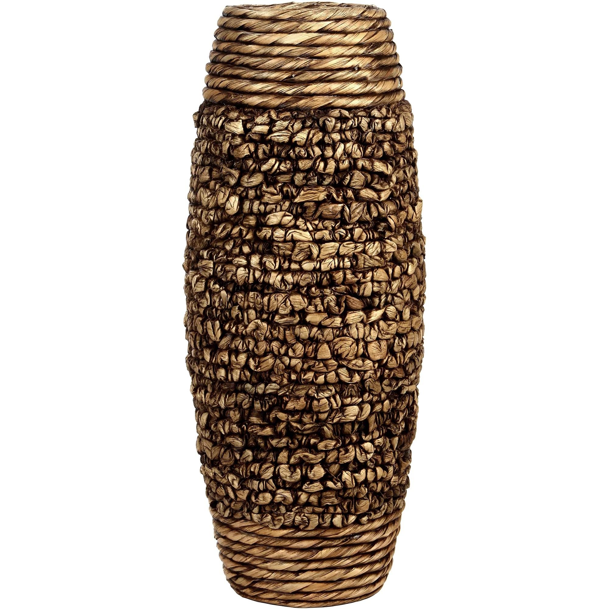 Home Decor Big Tall Floor Hosley Brown Water Hyacinth Vase