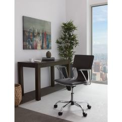 Dorado Office Chair Ikea Dining Room Table And Chairs Star With Fixed Padded Arms Chrome Finish Espresso Walmart Com