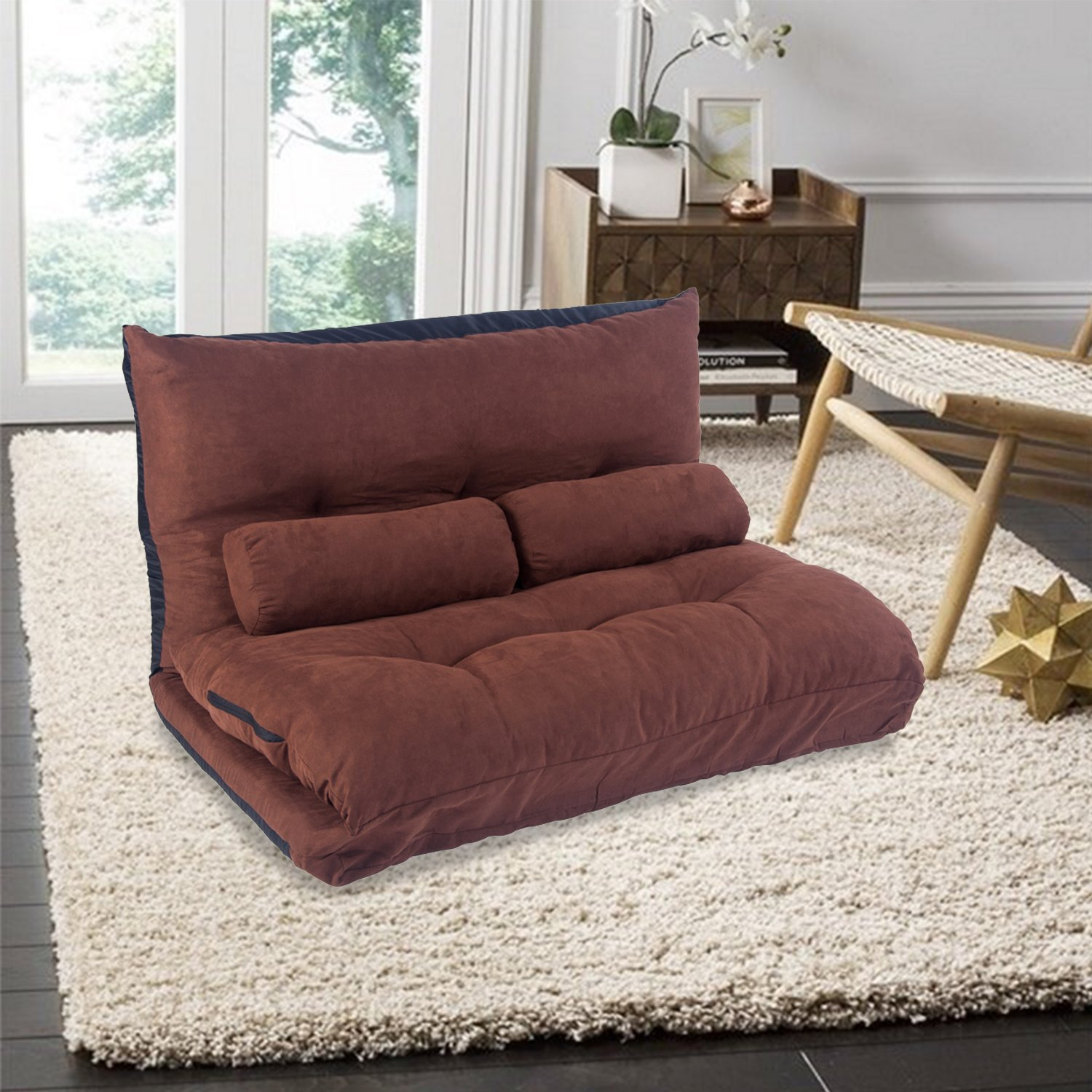 floor sofa bed family room sleeper 5 position double seat luxurious gaming