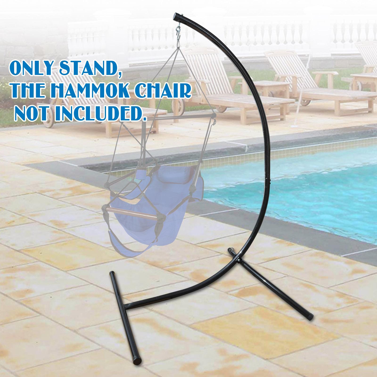 air chair frame korum fishing ebay strong camel new c stand hammock steel 440 lbs weight capacity swing holder
