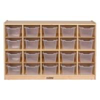 ECR4Kids 20-Tray Birch Storage Cabinet with Bins - Walmart.com