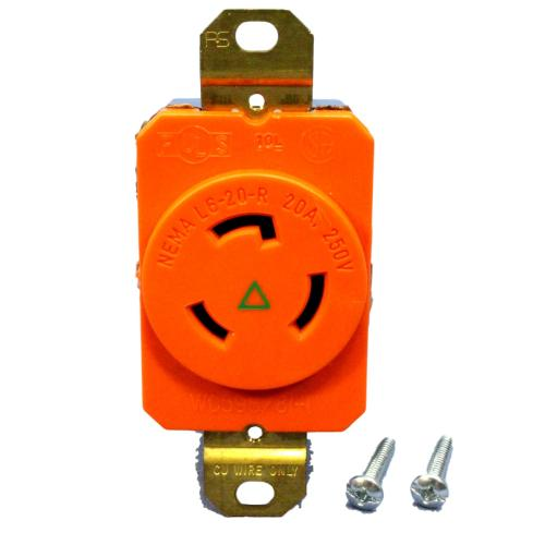 small resolution of pass seymour isolated ground locking receptacle nema l6 20r 20a 250v igl620 r walmart com