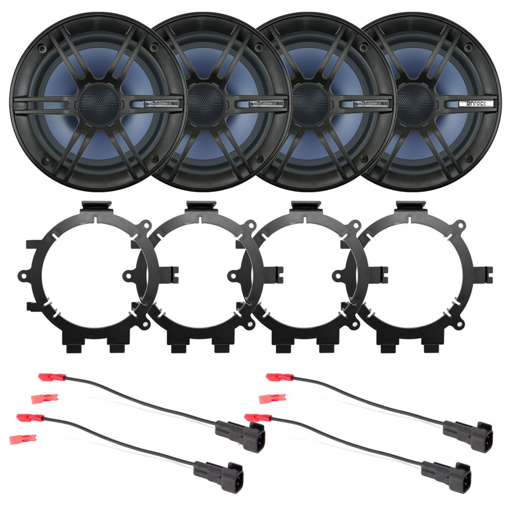 medium resolution of 4x enrock 6 5 2 way marine coaxial car boat audio stereo speakers with 4x enrock speaker mounting brackets 4x speaker wire harness walmart com