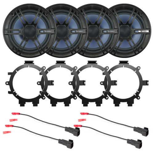 small resolution of 4x enrock 6 5 2 way marine coaxial car boat audio stereo speakers with 4x enrock speaker mounting brackets 4x speaker wire harness walmart com