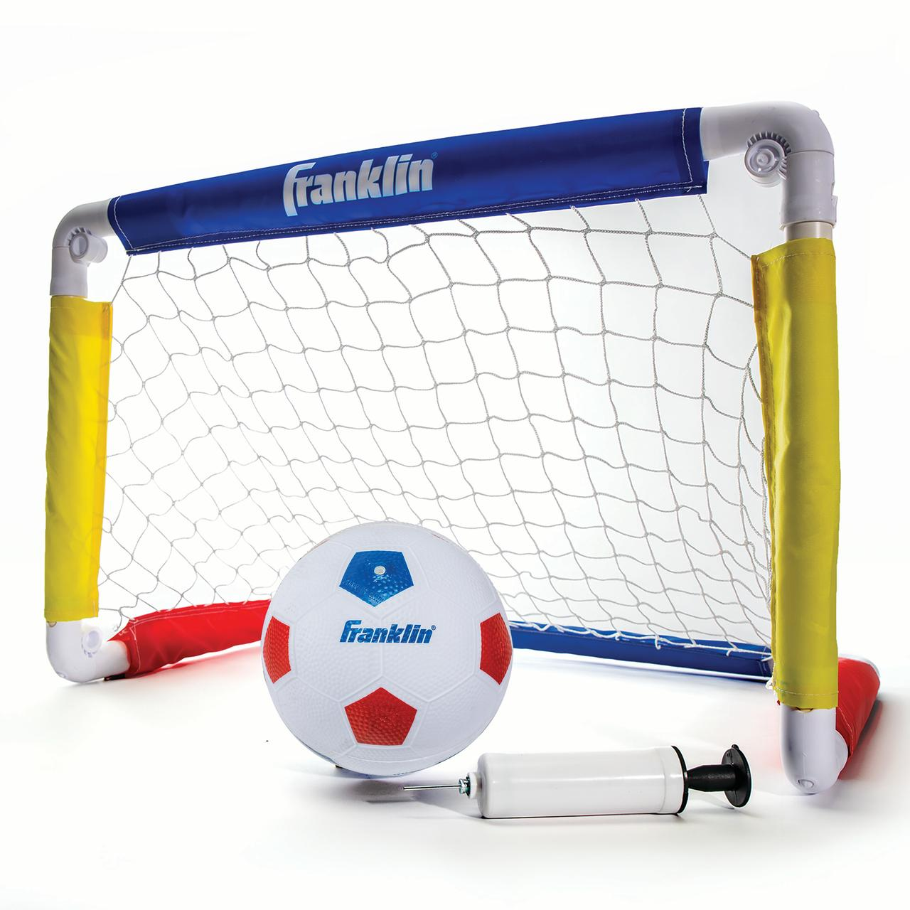 Franklin Sports Kids Soccer Goal With Ball And Pump