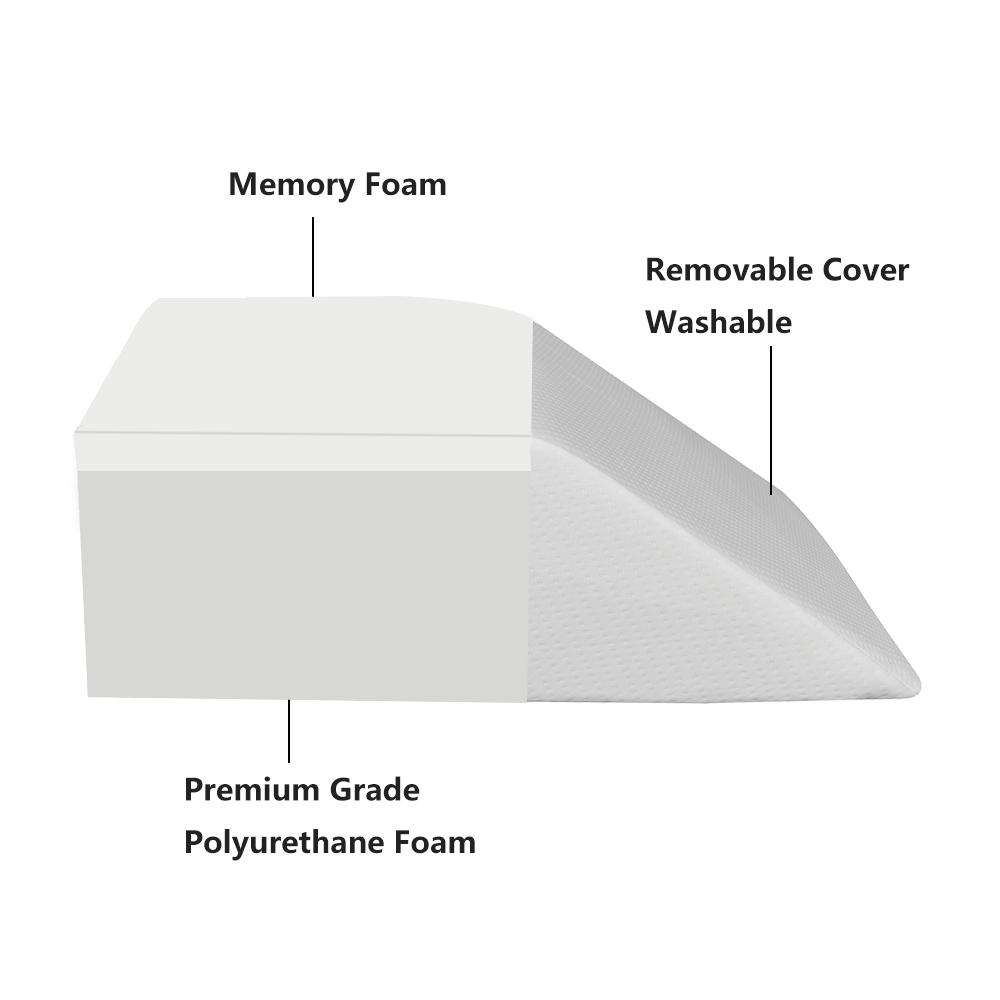 leg elevation pillow memory foam wedge elevator support cushion for sleeping swelling elevated prop up position back pain foot rest sciatica