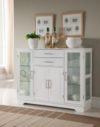 White Wood Contemporary Kitchen Buffet Display China