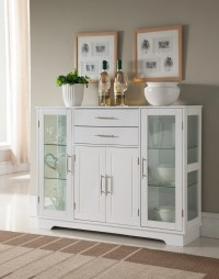 White Wood Contemporary Kitchen Buffet Display China ...