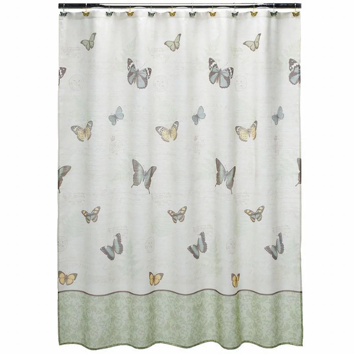 Croft  Barrow Eden Butterfly Fabric Shower Curtain