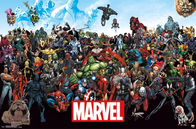 trends international marvel the lineup wall poster 22 375 x 34