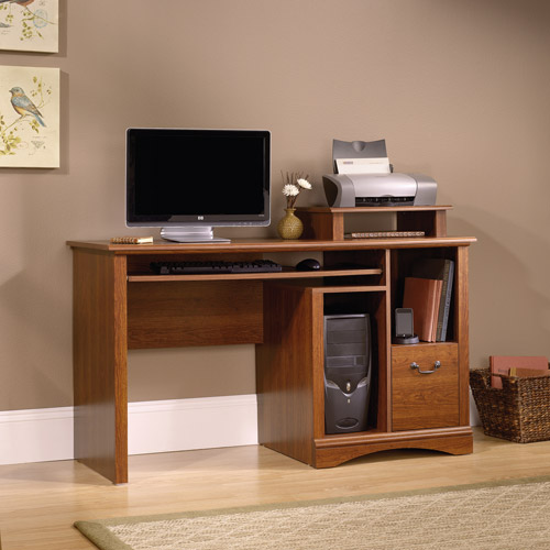 Sauder Camden County Computer Desk Planked Cherry