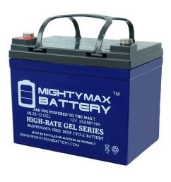 12v 35ah gel battery replaces johndeere lawn tractor riding mower 108 walmart com [ 1500 x 1235 Pixel ]