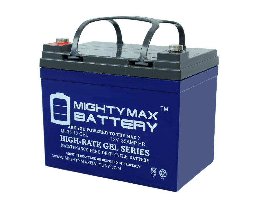 medium resolution of 12v 35ah gel battery replaces johndeere lawn tractor riding mower 108 walmart com