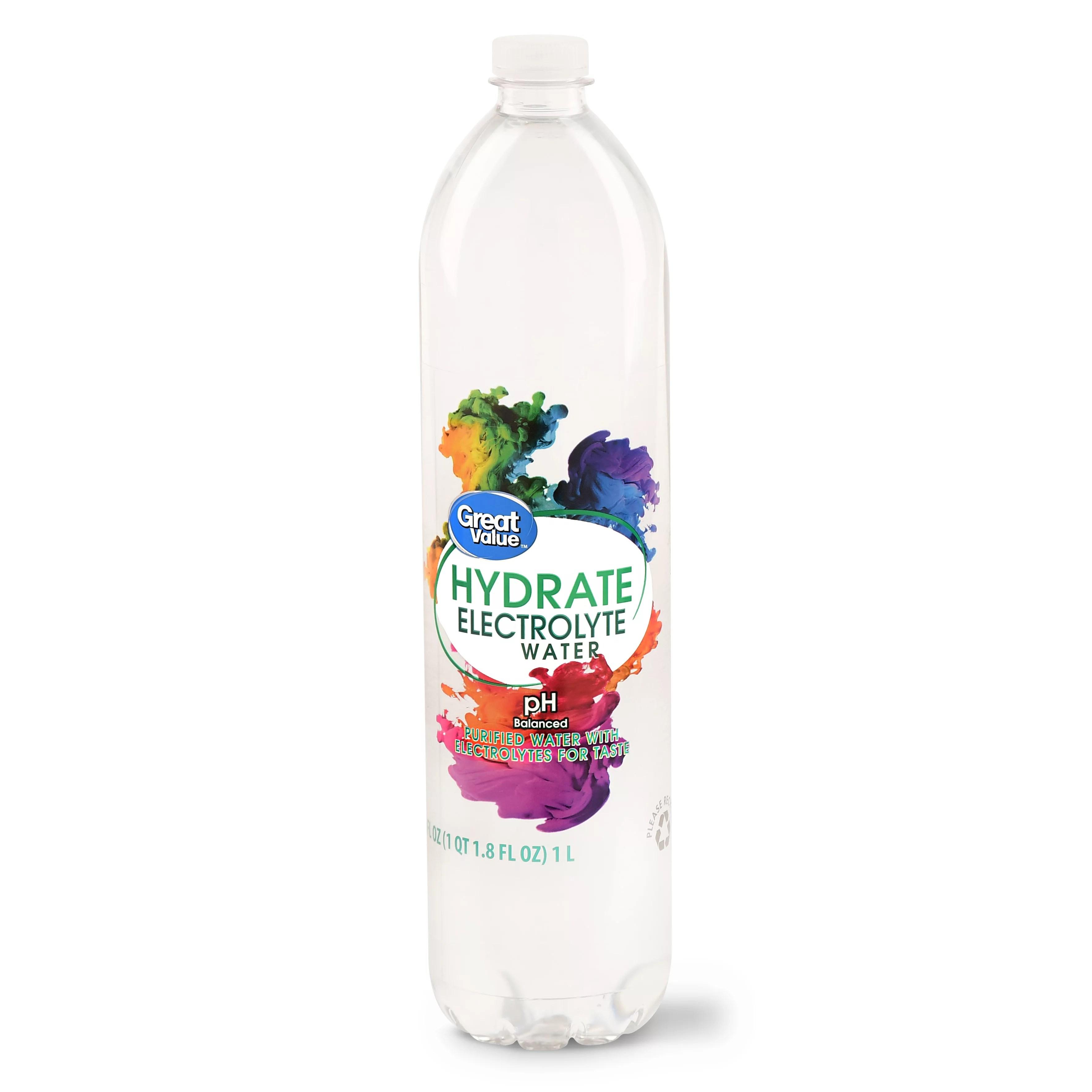 Great Value Hydrate Electrolyte Water 1 Liter - Walmart.com