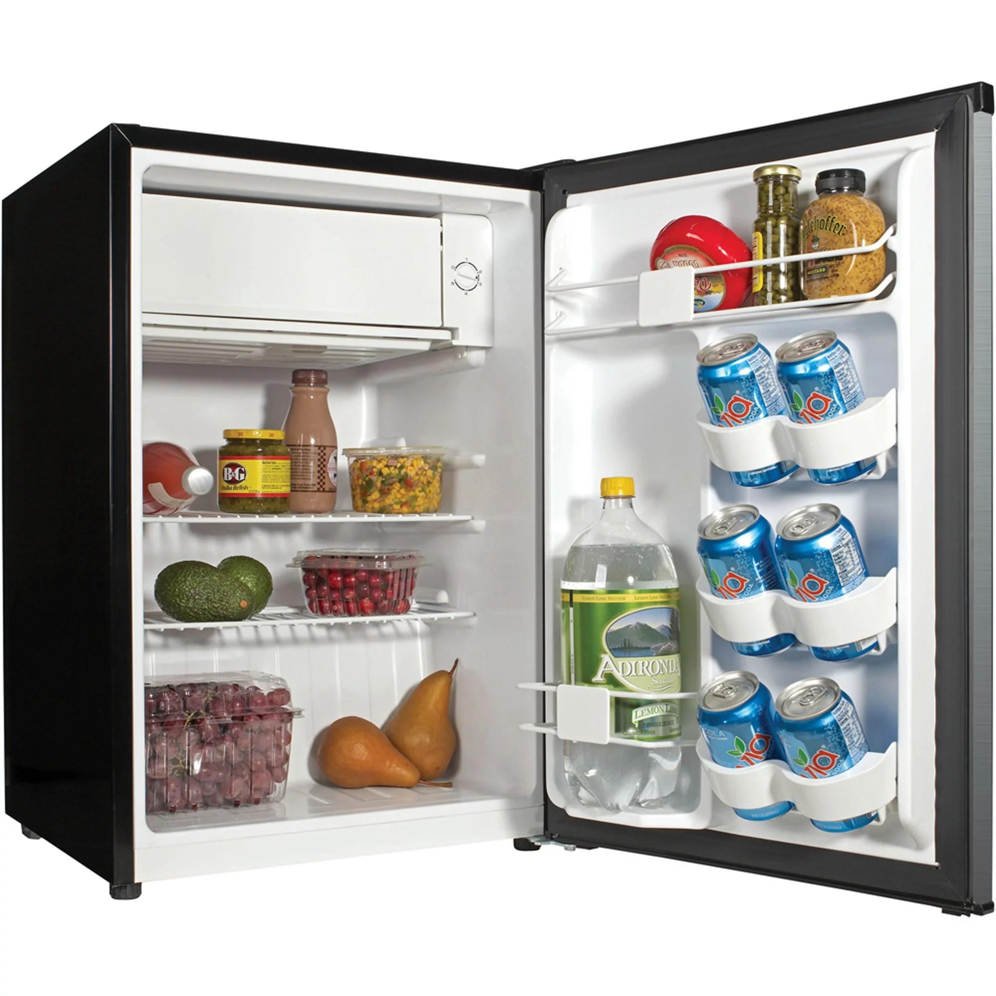 Mini Fridge Compact Steel Refrigerator 27 Cu Ft Dorm