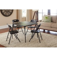 Cosco 5-Piece Folding Table and Chair Set, Multiple Colors ...